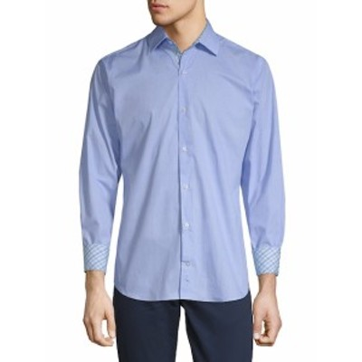 テイラーバード Men Clothing Behan Cotton Button-Down Shirt