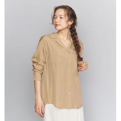 【ビューティアンドユース ユナイテッドアローズ/BEAUTY&YOUTH UNITED ARROWS】 BY キュプラオープンカラーシャツ