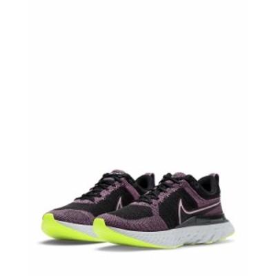 ナイキ レディース スニーカー シューズ Women's React Infinity Run Flyknit 2 Purple & Black Sneakers Black/Purple