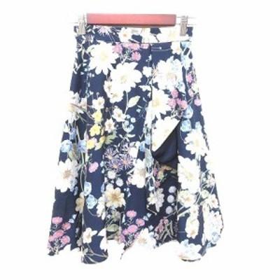 【中古】プロポーション ボディドレッシング PROPORTION BODY DRESSING フレアスカート ひざ丈 花柄 1 マルチカラー