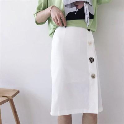 ?夏最強の新作韓国ファッション可愛 気質 ハイウェスト レディーズ 無地 スカート