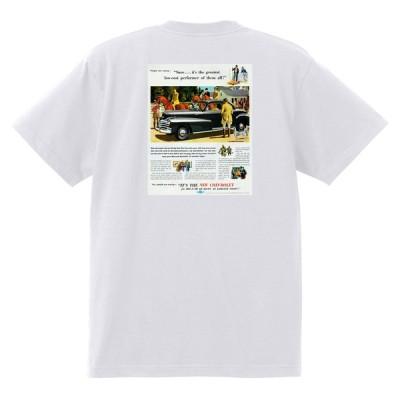 アドバタイジング シボレー 158白 Tシャツ 1947 オールディーズ 50's 60's ローライダー ホットロッド フリートライン