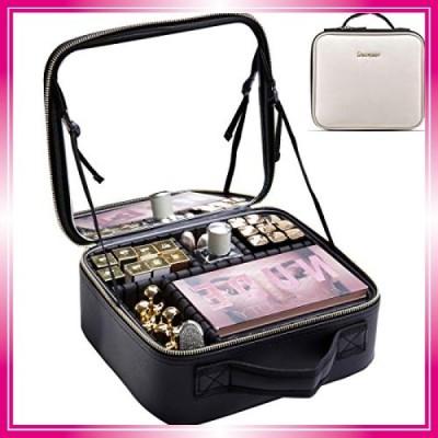 Rownyeon メイクボックス 鏡付き プロ用 化粧品収納ボックス コスメボックス ミニ化粧 ドレッサー キャリー 仕切