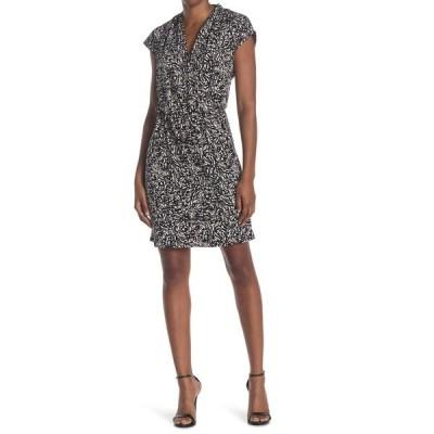エイチ ホルストン レディース ワンピース トップス Extended Shoulder Drape Front Dress ABST BLK
