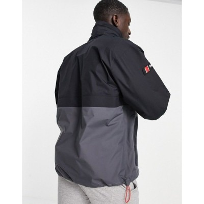 バーグハウス メンズ ジャケット&ブルゾン アウター Berghaus Smock jacket in black Jet black/gray pinst