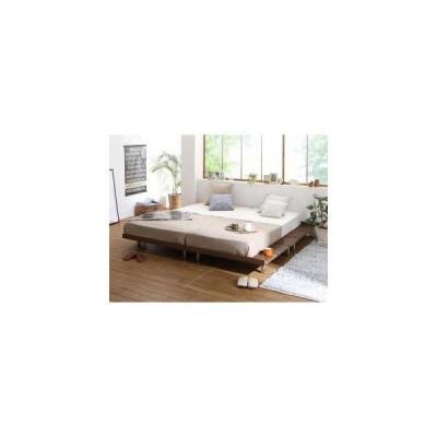 ベッド マットレス付き ビブリー スタンダードボンネルコイルマットレス付き スチール脚タイプ ステージ ダブル フレーム幅160