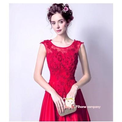 花柄なウエディングドレストレーン Party Dress 大きいサイズ演奏会 パーティードレス 発表会20代30代 ピアノ カラードレス 二次会 結婚式