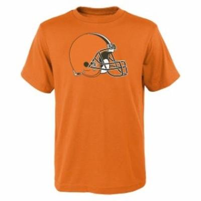 Outerstuff アウタースタッフ スポーツ用品  Cleveland Browns Youth Orange Team Logo T-Shirt