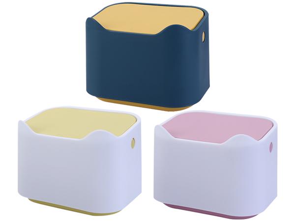 可愛貓咪按壓式桌面垃圾桶/收納盒(1入) 款式可選【D011877】
