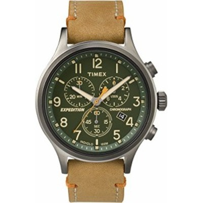 【当店1年保証】タイメックスTimex Expedition TW4B04400 Scout Chrono Men Watch, Tan/Green/Gunmeta