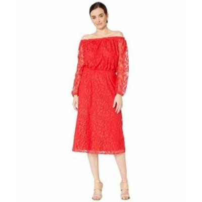Nine West ナインウェスト ドレス 一般 Vineyard Lace Midi Long Sleeve Peasant Dress