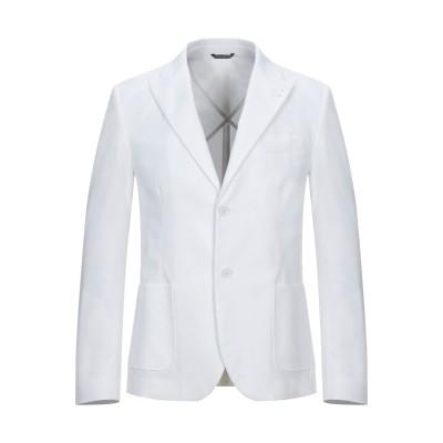 ダニエル アレッサンドリーニ DANIELE ALESSANDRINI テーラードジャケット ホワイト 50 コットン 97% / ポリウレタン 3