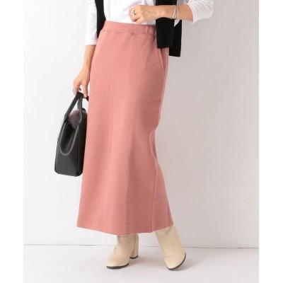 【シップス】 SHIPS any: ダブルフェイスストレートスカート レディース ピンク SMALL SHIPS