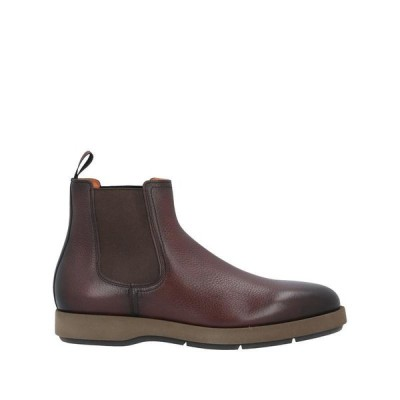 SANTONI ショートブーツ  メンズファッション  メンズシューズ、紳士靴  ブーツ  その他ブーツ ダークブラウン