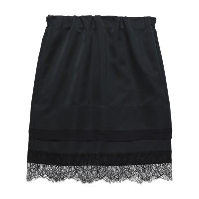 ヌメロ ヴェントゥーノ N°21 ひざ丈スカート ブラック 38 ポリエステル 100% / アセテート / シルク ひざ丈スカート