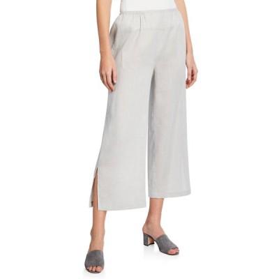 キャロライン ローズ レディース カジュアルパンツ ボトムス Plus Size Tissue Linen Wide-Leg Pants