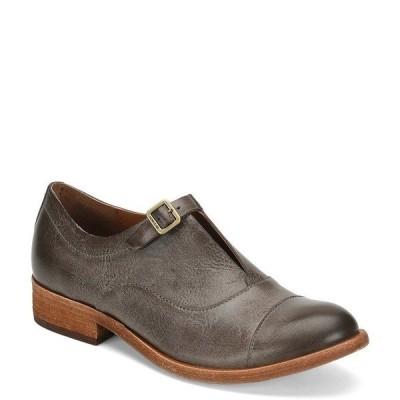 コークイース レディース オックスフォード シューズ Niseda Leather Oxfords Grey