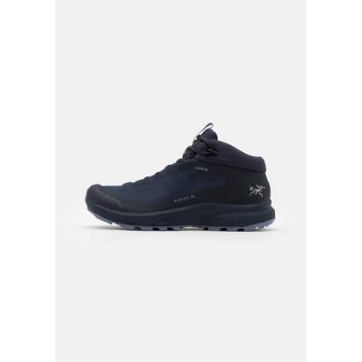 アークテリクス シューズ レディース ハイキング AERIOS FL MID GTX W - Hiking shoes - black sapphire/binary