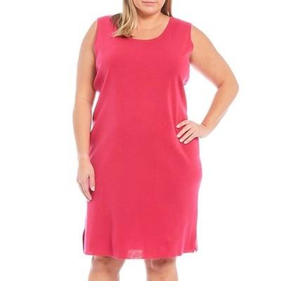 ミンウォン レディース ワンピース トップス Plus Size Basic Sleeveless Scoop Neck Tank Dress