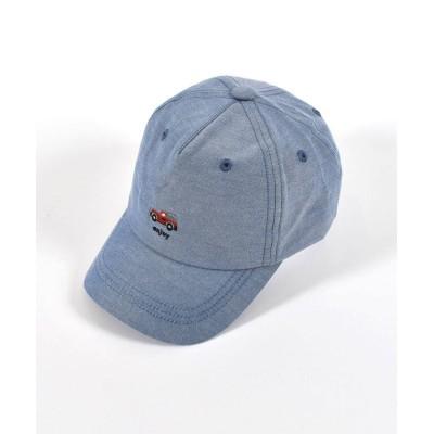 (SLAP SLIP/スラップスリップ)チェリー さくらんぼ アイス クルマ 恐竜 ワンポイント 刺繍 キャップ (S~/ ブルー
