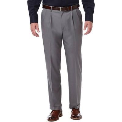 ハガー メンズ カジュアルパンツ ボトムス Premium Comfort 4 Way Stretch Classic Fit Pleat Dress Pants