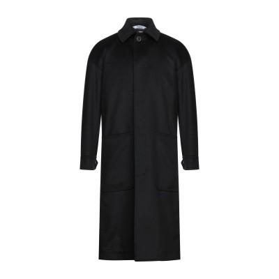BOTTEGA MARTINESE コート ブラック 52 ウール 70% / ナイロン 20% / カシミヤ 10% コート