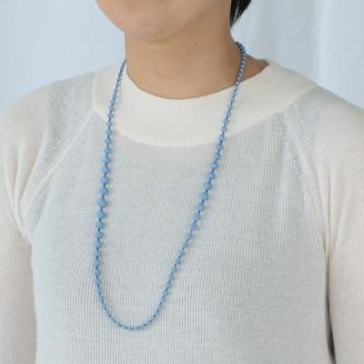 トリプルオゥ[ネックレス]スフィア・プラス 80 誕生石カラー<9月 サファイアサックス>SP603◆トリプルオー 000 ooo TRIPLE O 刺しゅう ブルー 青 軽い 80cm