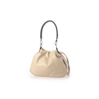 ヴィータフェリーチェ VitaFelice 巾着ショルダー バッグ 2wayショルダーバッグ ミニバッグ ハンドバッグ 斜めがけ (IVORY)
