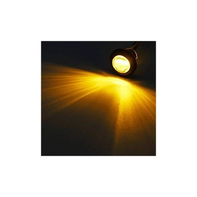 """Partsam 10x 3/4"""" Clear Lens Amber Yellow Round Led Lights Trailer Mark"""