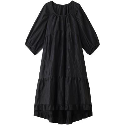 Shinzone シンゾーン リネンティアードドレス レディース ブラック F
