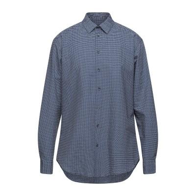 ジョルジオ アルマーニ GIORGIO ARMANI シャツ ブルー 39 コットン 100% シャツ