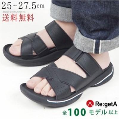送料無料 リゲッタ メンズ サンダル グランスタイルベルクロサンダル クロスベルト 履きやすい 日本製/ JPR013/ sms169 春新作