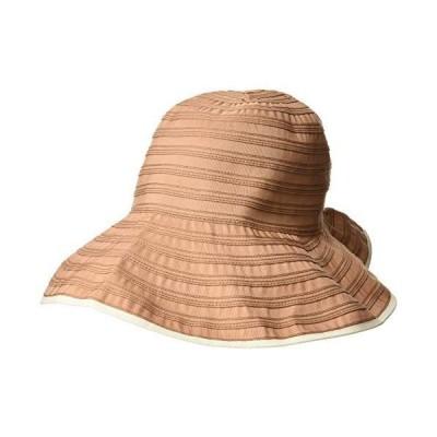 [ムーンバット] marylia マリリア 婦人 洗濯機で洗える帽子 グログラン ゴム入りハット日焼け対策 熱中症帽子 紫外線対策 旅行 ト