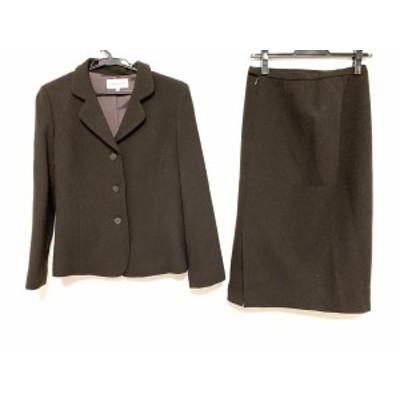 ハナエモリ HANAE MORI スカートスーツ サイズ38 M レディース - ダークグレー【中古】20201118