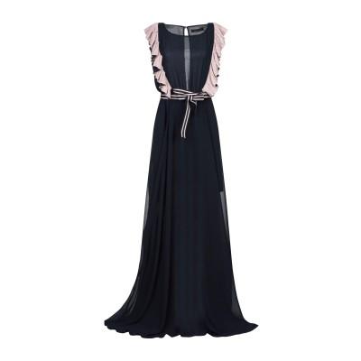 フランキー モレロ FRANKIE MORELLO ロングワンピース&ドレス ダークブルー 38 ポリエステル 100% ロングワンピース&ドレス