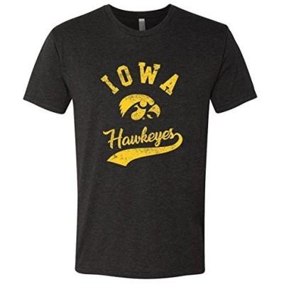 AS11 - Iowa Hawkeyes Retro Script Men's Triblend T-Shirt - 3X-Large - Vintage Black
