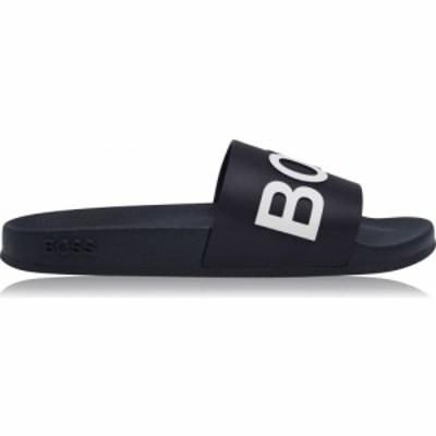 ヒューゴ ボス Boss メンズ サンダル シューズ・靴 Bay Pool Sliders Navy/White