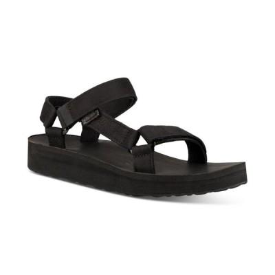テバ Teva レディース サンダル・ミュール シューズ・靴 Midform Universal Leather Sandals Black