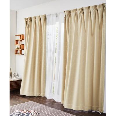 ドット柄遮光カーテン&レース4枚セット(ベーシック) カーテン&レースセット, Curtains, sheer curtains, net curtains(ニッセン、nissen)