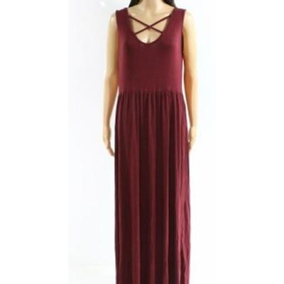 Maxi  ファッション ドレス Designer Brand NEW Purple Womens Size Medium M V-Neck Maxi Dress