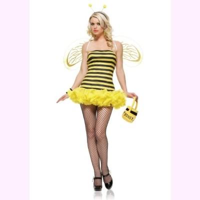 8412 カワイイ  みつばちのコスチューム 3ピースセット  仮装コスチューム コスプレ  /LEG AVENUEレッグアベニュー  コスプレ・仮装・ハロウィン・女性・大人用