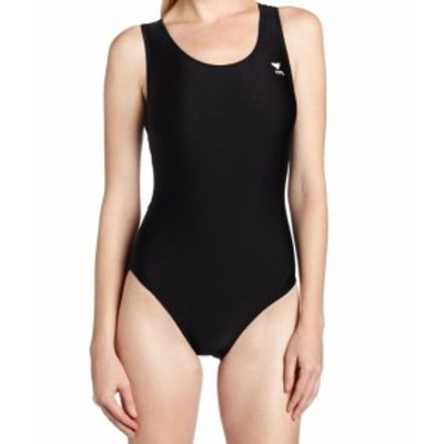 tyr ティア スポーツ用品 スイミング TYR Deep Black Womens Size 36 One-Piece Cutout Back Solid Swimwear