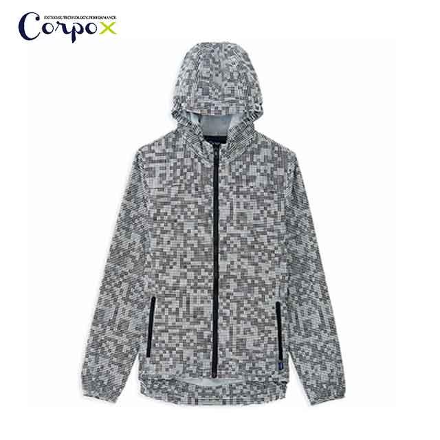 【Corpo X】男款幾何抗UV防蚊吸排外套(升級版)-灰