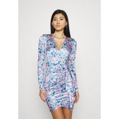 ゲス レディース ワンピース トップス CHARMIAN DRESS - Jersey dress - charcoal blue charcoal blue