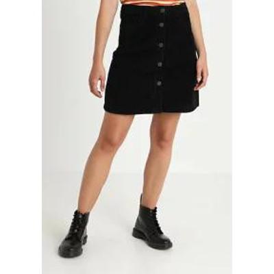 Noisy May レディーススカート NMSUNNY SHORT SKATER SKIRT - A-line skirt - black black