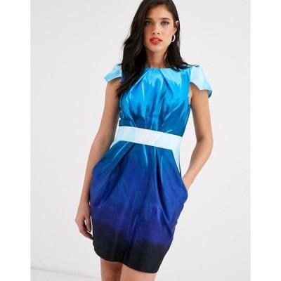 クローゼットロンドン レディース ワンピース トップス Closet capped sleeve tulip mini dress