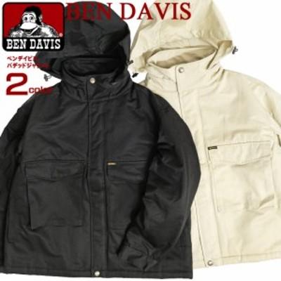 BEN DAVIS ジャケット メンズ ベンデイビス パデッドジャケット 無地 収納可能フード 中綿ジャケット 裏地キルティング BEN-1479