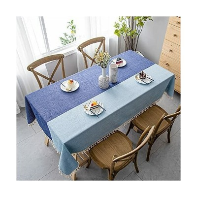 CHOZAN テーブルクロス コットンリネン材質 耐用 肌触り良い タッセルエッジ おしゃれ 汚れ防止 インテリア キ