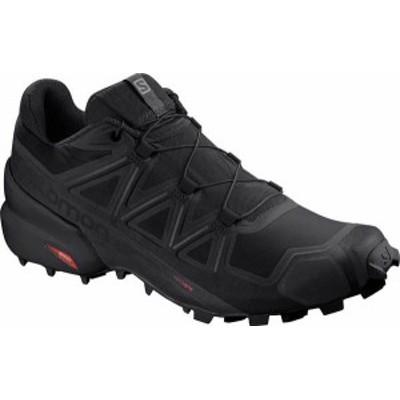 サロモン メンズ スニーカー シューズ Men's Salomon SpeedCross 5 Trail Shoe Black/Black/Phantom Textile/Synthetic