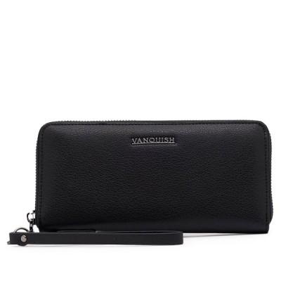 ヴァンキッシュ VANQUISH 財布 長財布 メンズ レディース ラウンドファスナー LONG WALLET ブラック 黒 VQM-41280